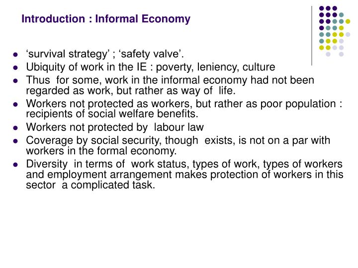 Introduction informal economy
