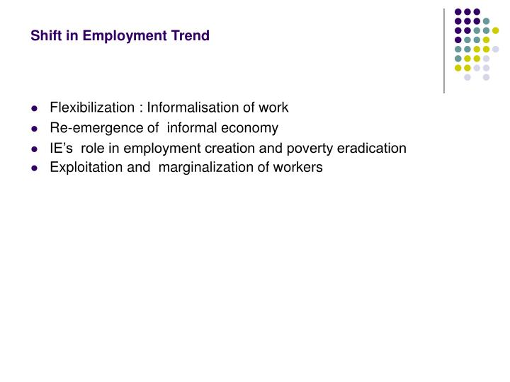 Shift in Employment Trend