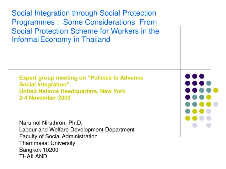 Social Integration through Social Protection