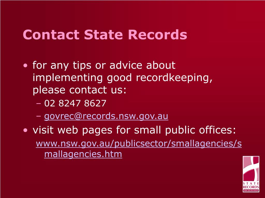 Contact State Records