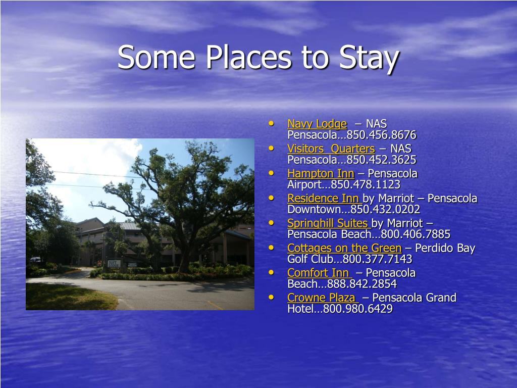 Some Places to Stay