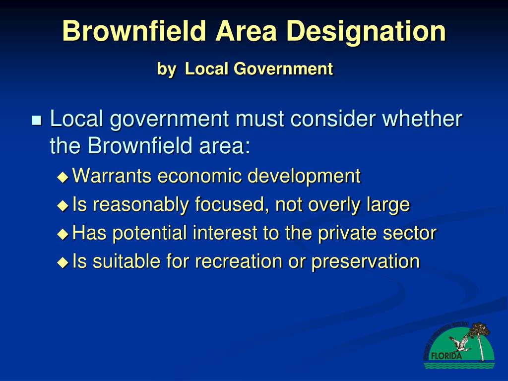Brownfield Area Designation