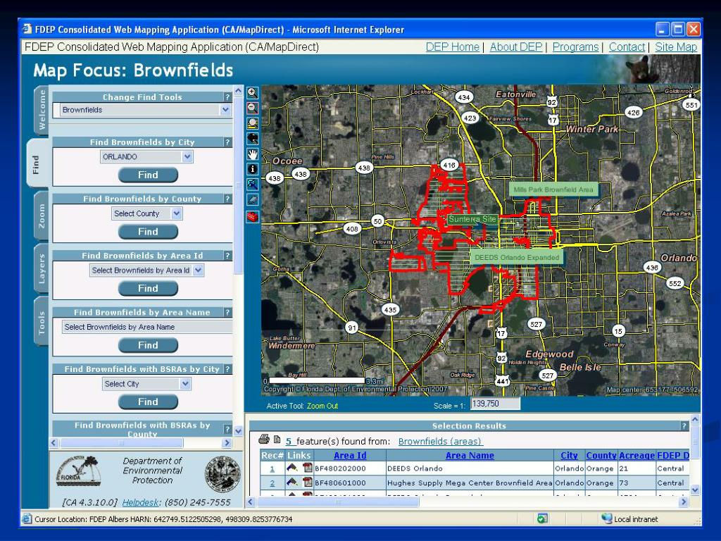 Brownfields Geoviewer