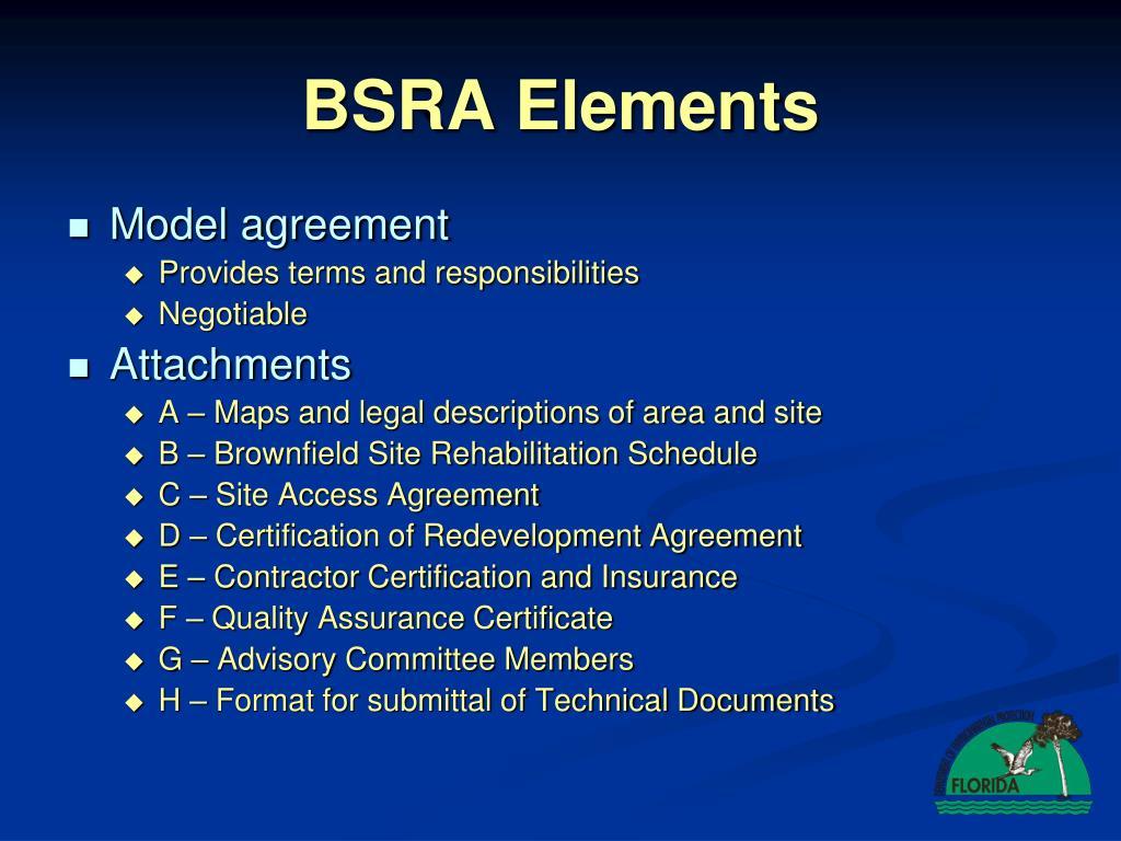 BSRA Elements