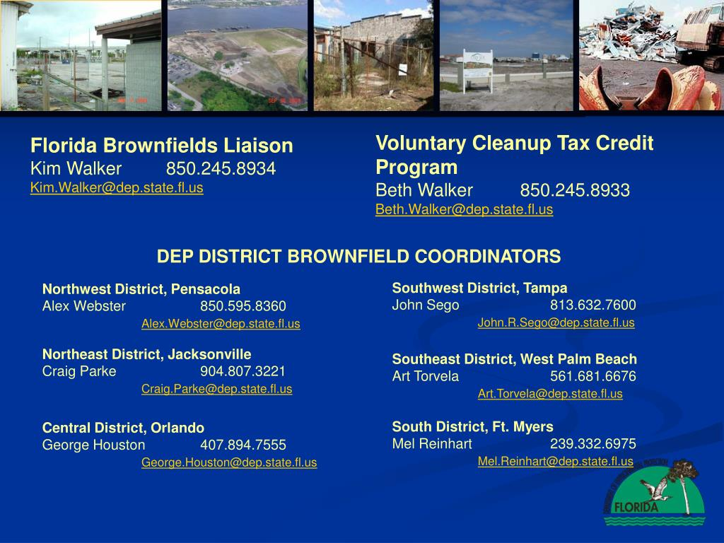 Voluntary Cleanup Tax Credit  Program