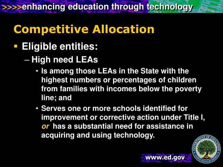 Competitive Allocation