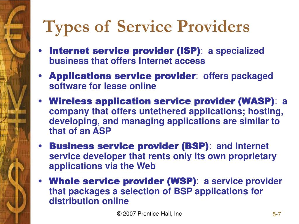 types of service providers in the What types of connections are available  for a broadband provider speed  comparison, here are the five most.