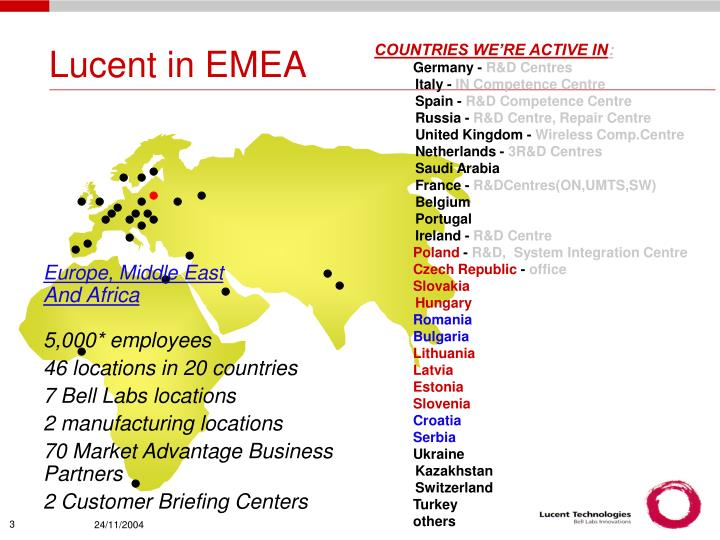 Lucent in emea