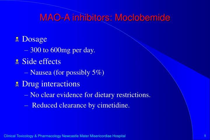 MAO-A inhibitors: Moclobemide