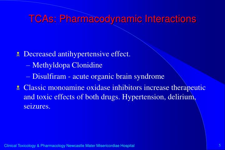 TCAs: Pharmacodynamic Interactions