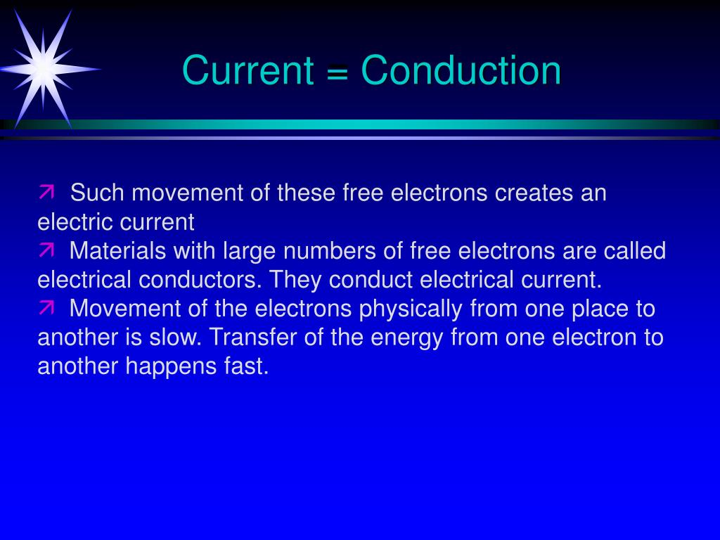 Current = Conduction