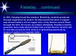 faraday continued