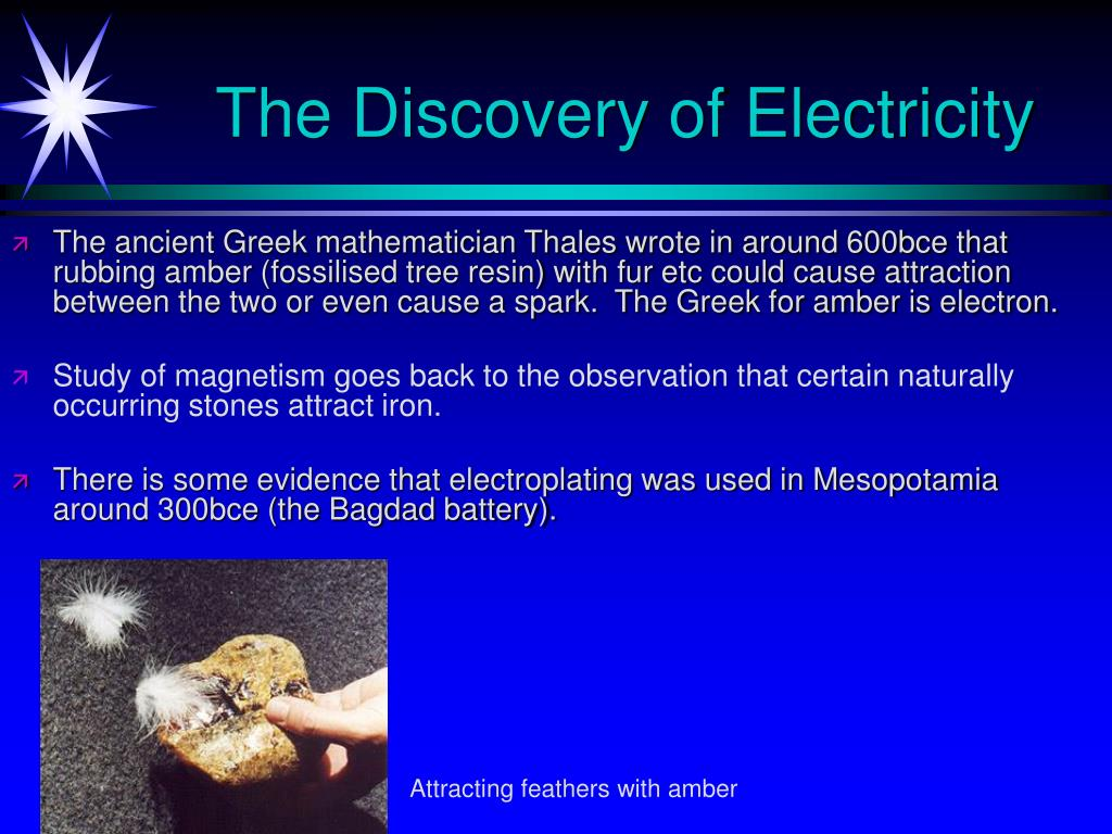 The Discovery of Electricity