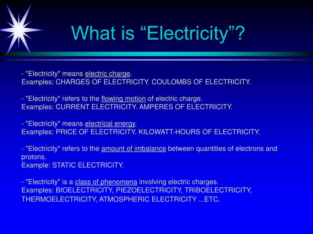 "What is ""Electricity""?"
