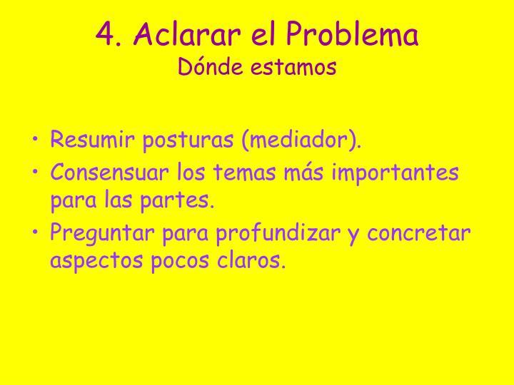 4. Aclarar el Problema