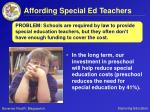 affording special ed teachers