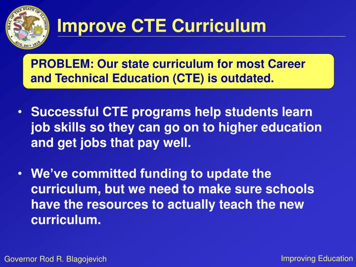 Improve CTE Curriculum