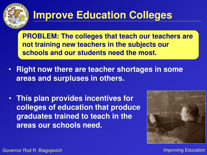 Improve Education Colleges