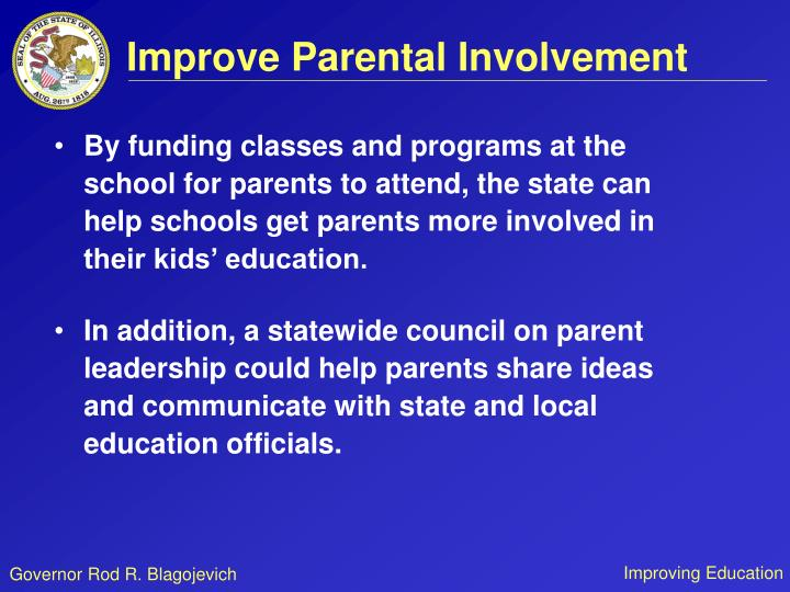 Improve Parental Involvement