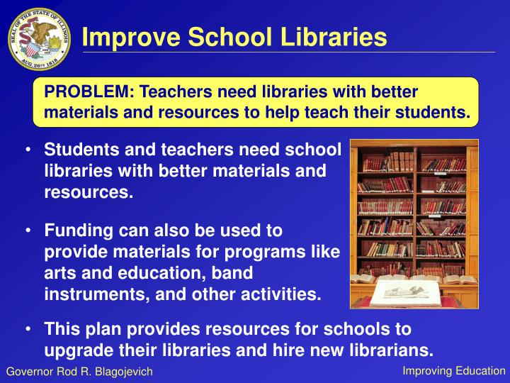 Improve School Libraries