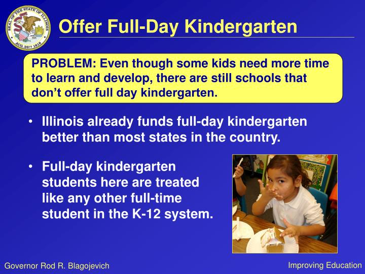 Offer Full-Day Kindergarten