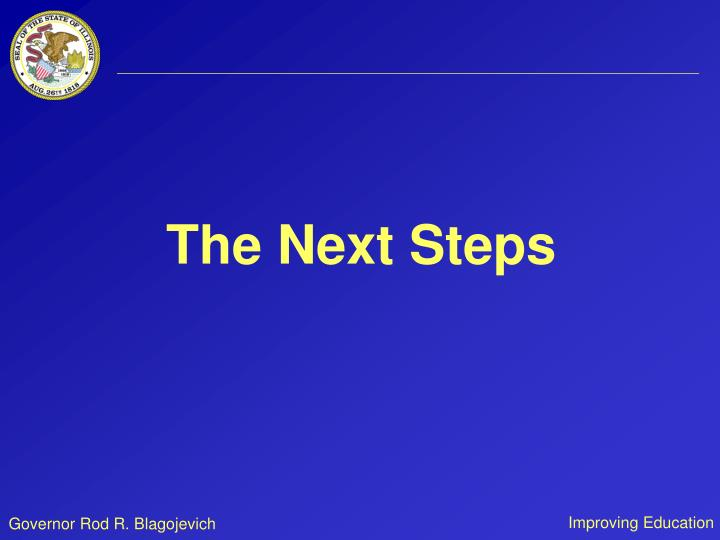 The Next Steps