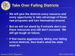 take over failing districts