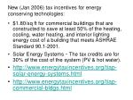 new jan 2006 tax incentives for energy conserving technologies