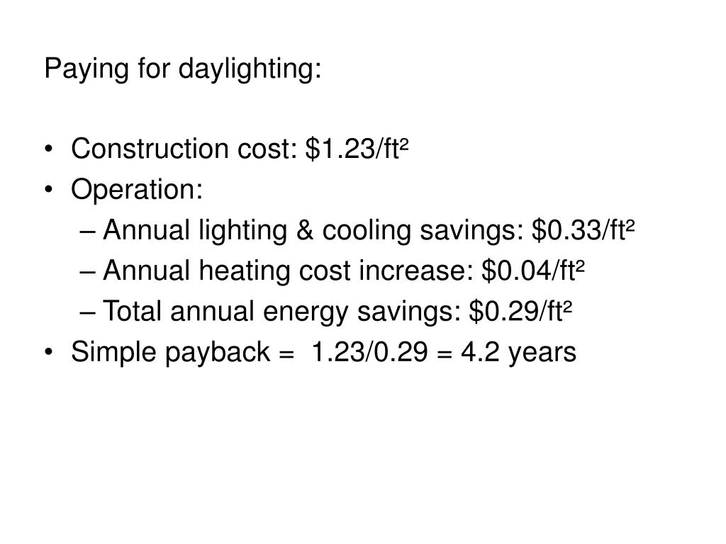 Paying for daylighting: