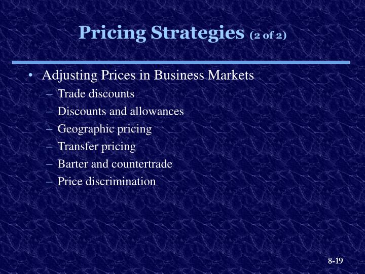 Adjusting Prices in Business Markets