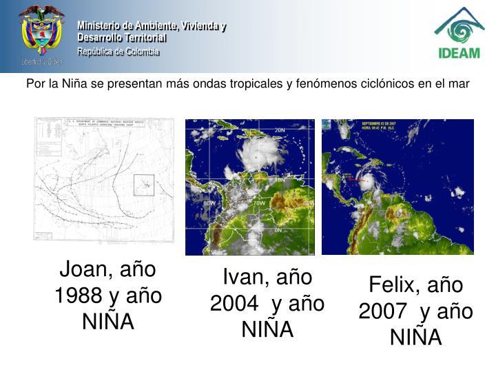 Por la Niña se presentan más ondas tropicales y fenómenos ciclónicos en el mar