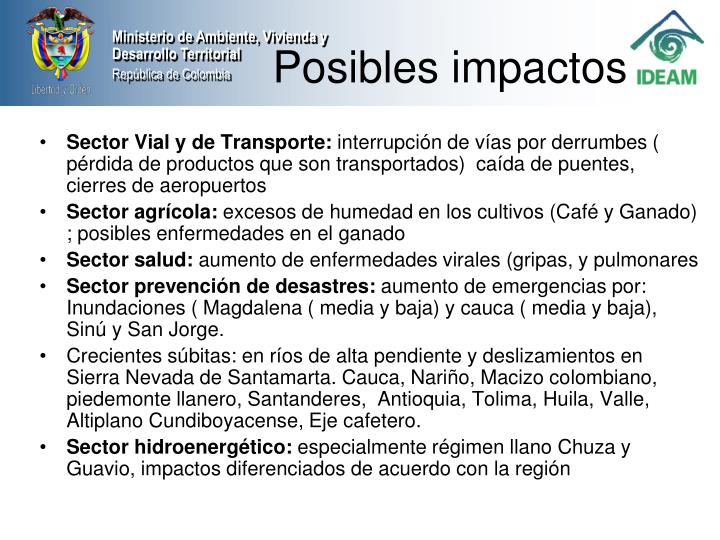 Sector Vial y de Transporte: