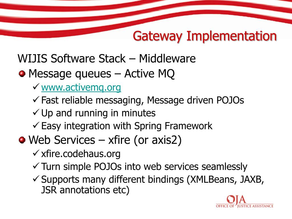 WIJIS Software Stack – Middleware