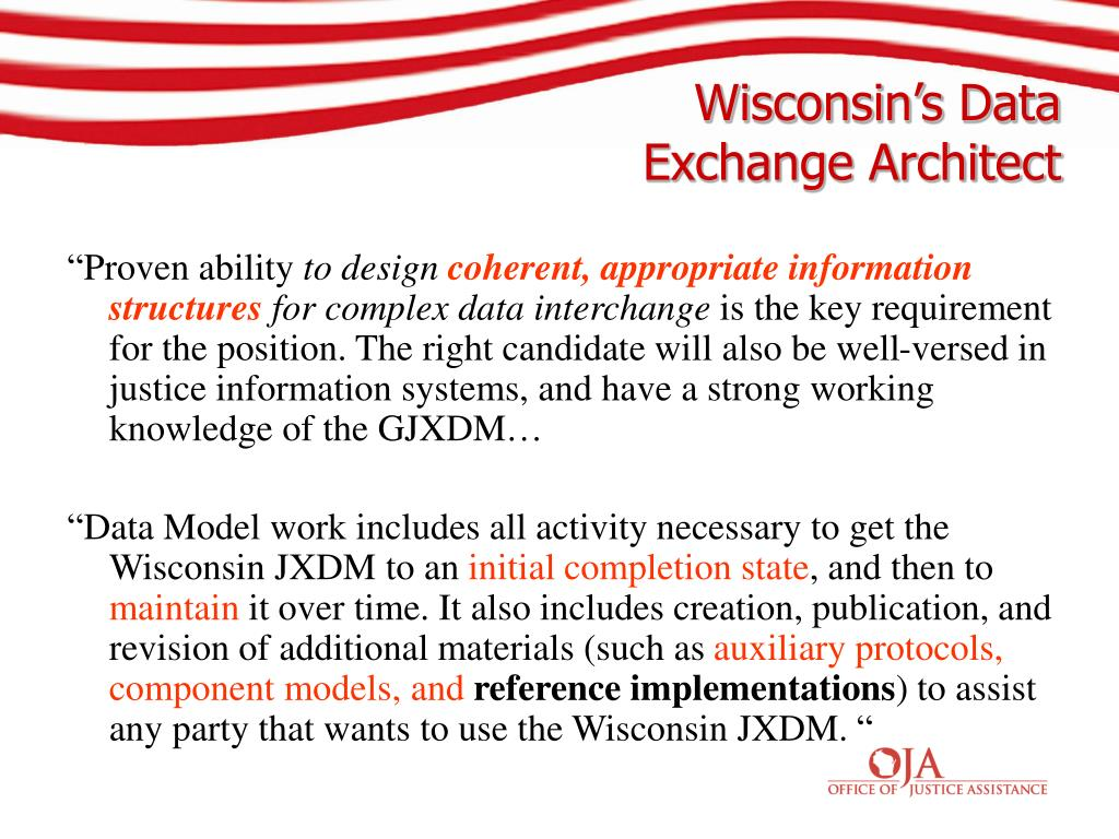Wisconsin's Data Exchange Architect