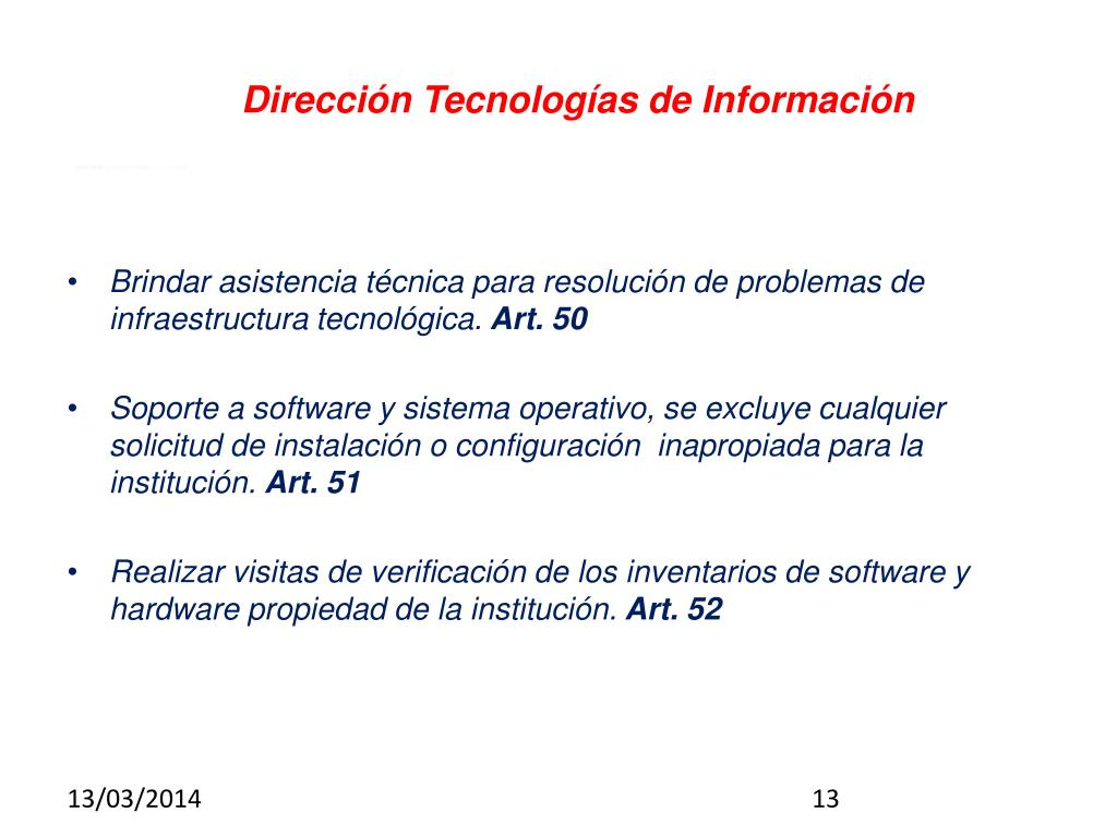 Dirección Tecnologías de Información