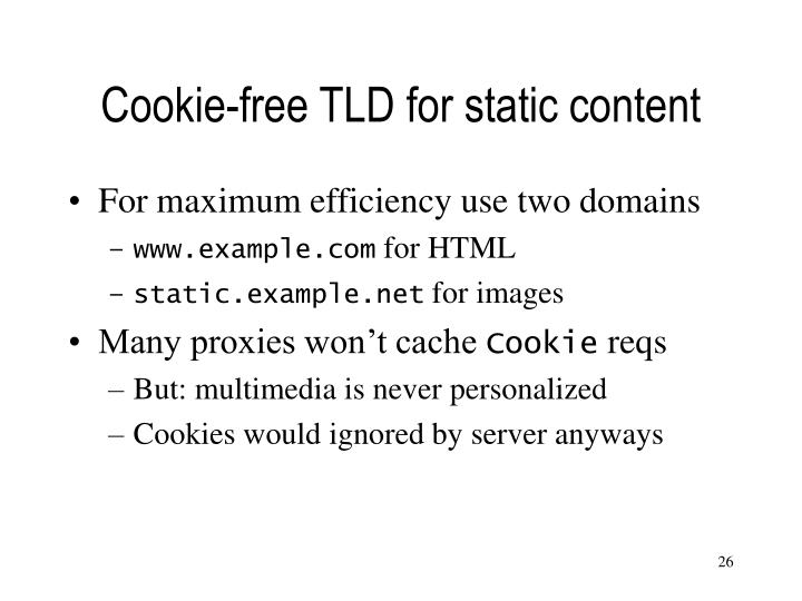 Cookie-free TLD for static content