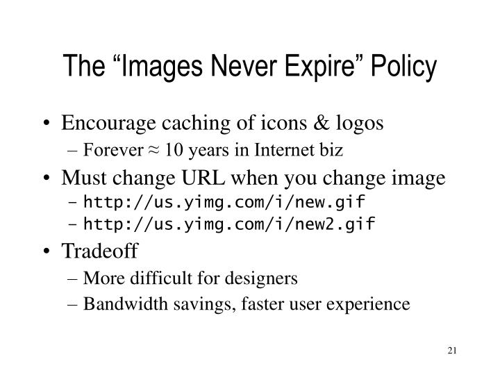 "The ""Images Never Expire"" Policy"