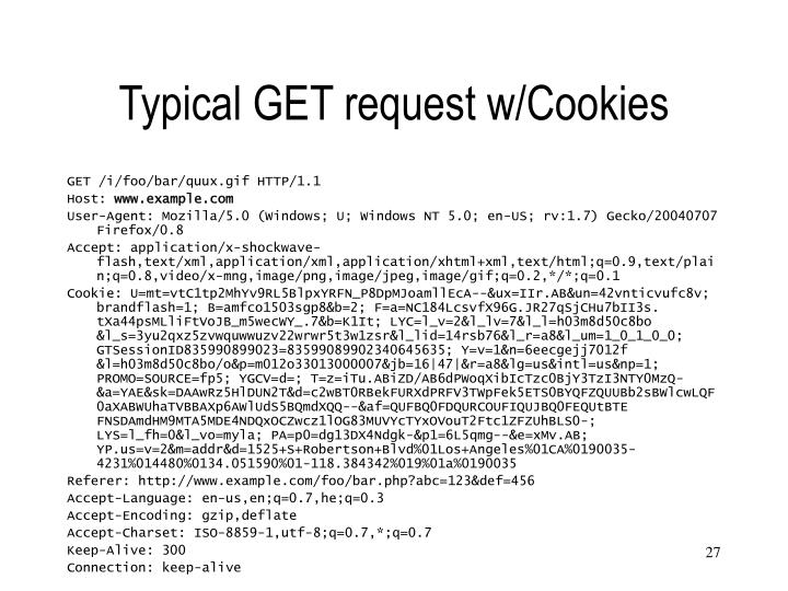 Typical GET request w/Cookies