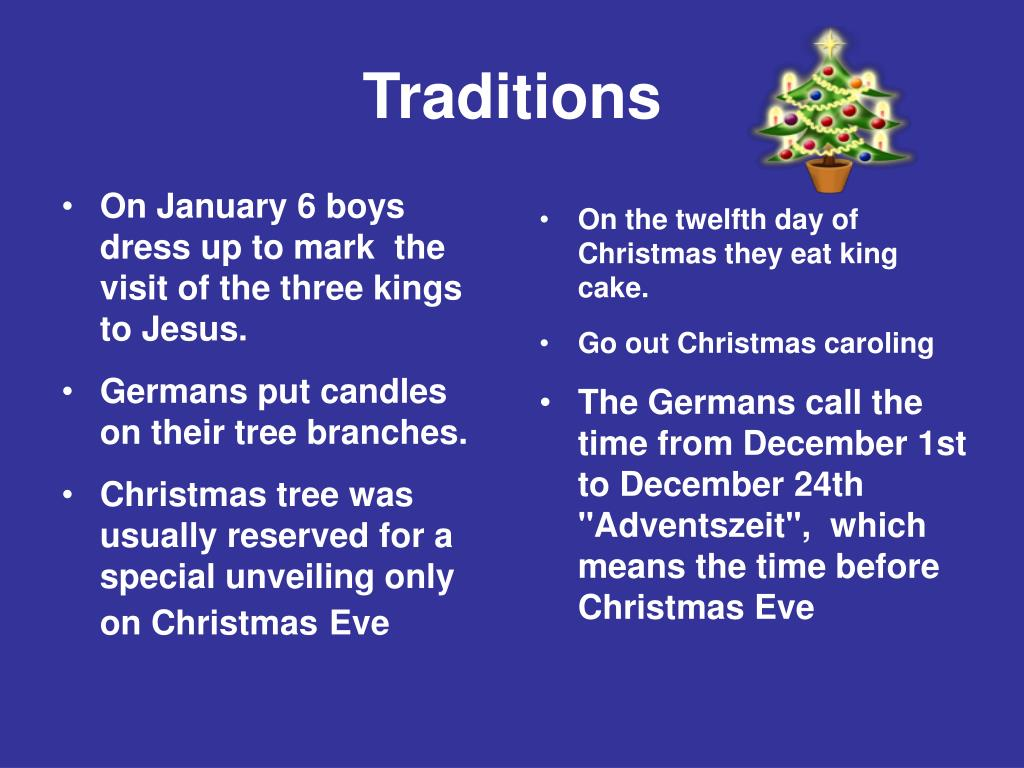 On January 6 boys dress up to mark  the visit of the three kings to Jesus.