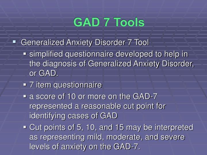 GAD 7 Tools