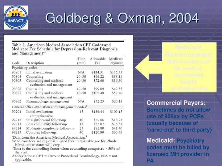 Goldberg & Oxman, 2004