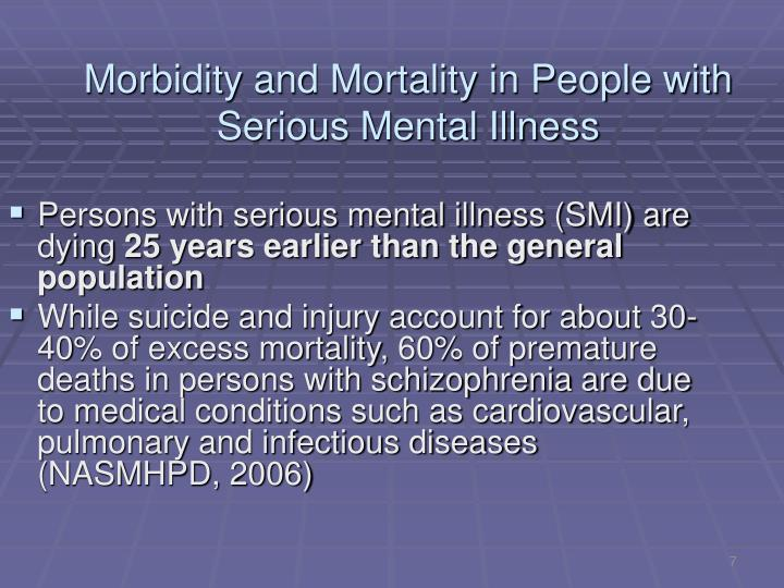 Morbidity and Mortality in People with Serious Mental Illness