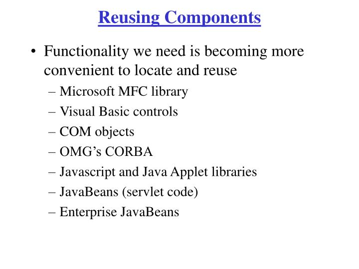 Reusing Components