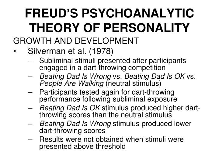 psychoanalytic theory of personality