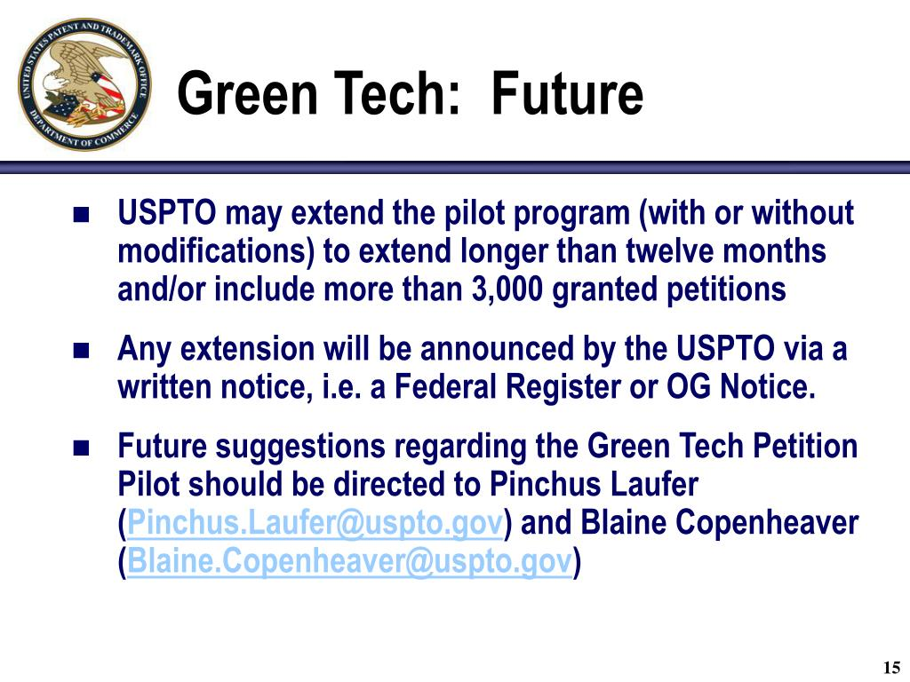 Green Tech:  Future