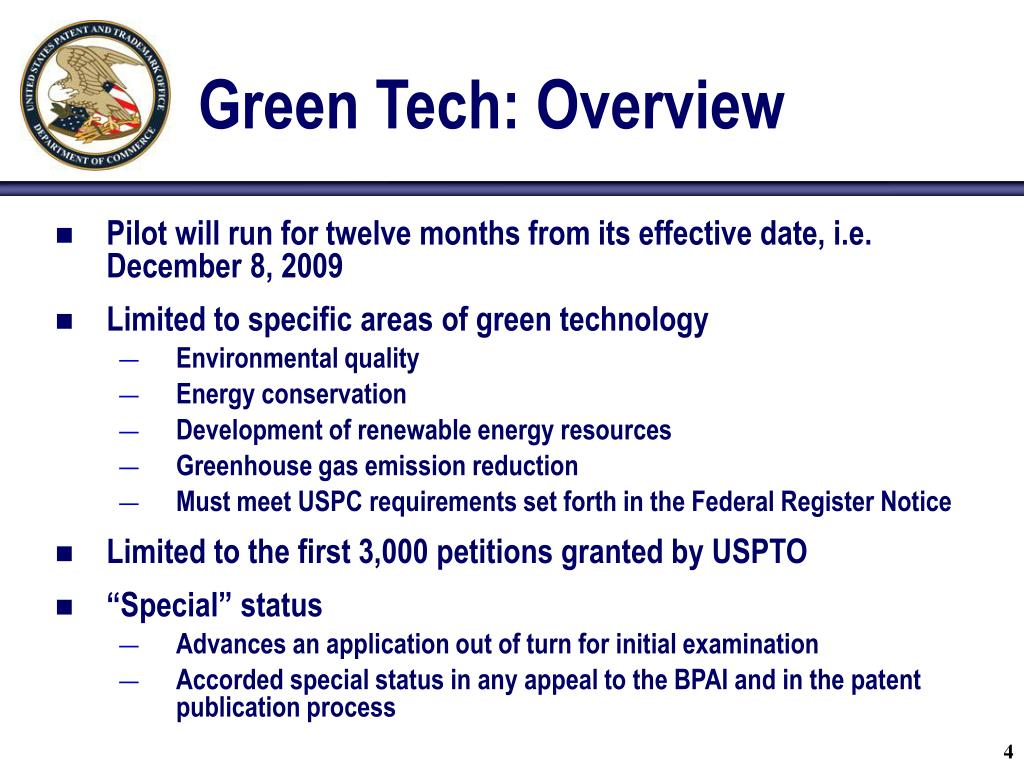 Green Tech: Overview