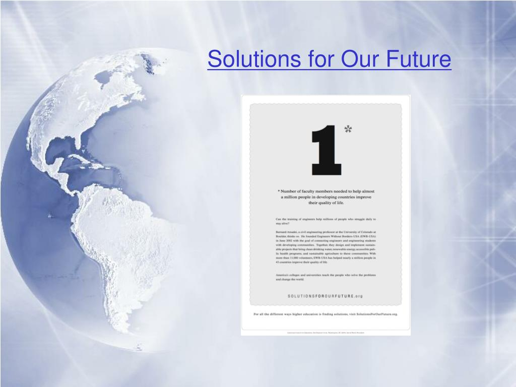 Solutions for Our Future