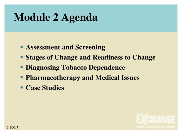 Module 2 Agenda