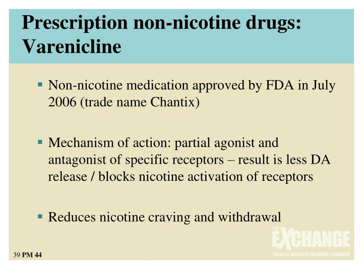 Prescription non-nicotine drugs: