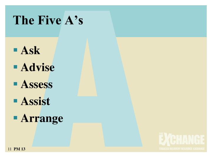 The Five A's